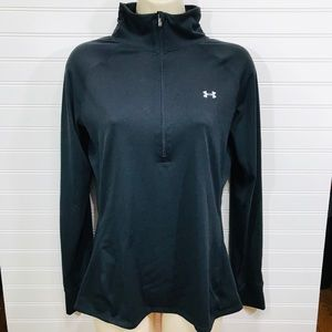 Under Armour Black SemiFitted 1/2 Zip Pullover EUC